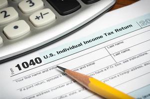 Steuererklärungsformular foto