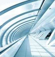 verglaster Korridor im Bürozentrum foto