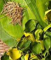 Anzahl der Bananenblätter foto