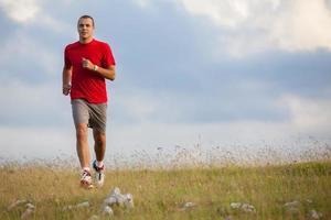 Laufen Fitness Mann foto