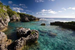 Limu Pools in Niue, einem Korallenatoll im Südpazifik foto