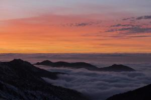 Sonnenuntergang in Sierra Nevada, Granada, Spanien foto