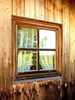 Hütte und Fenster