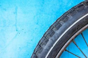 Fahrraddetail auf Hintergrund foto