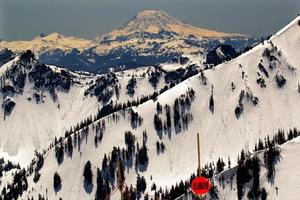 Hinterland schneebedeckten Mount Adams Washington foto