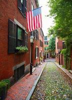 Eichel Straße Leuchtfeuer Hügel Kopfsteinpflaster Boston