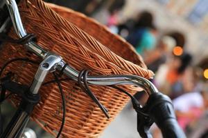 städtisches Retro-Fahrrad foto