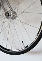 Detail des Fahrradrades foto