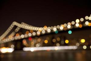 Manhattan Brücke defokussierten Hintergrund