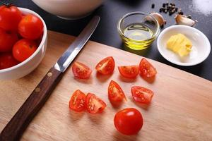Zutat für Tomatensuppe foto