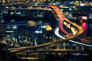 Portland Autobahn in der Nacht foto