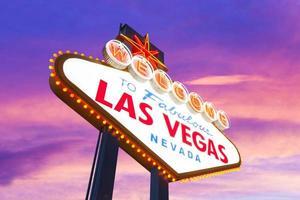 Willkommen im fabelhaften Las Vegas Zeichen foto