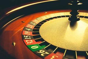 altes Roulette-Rad foto