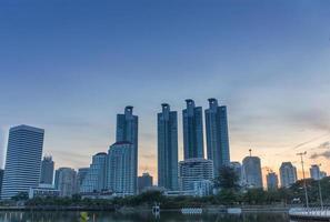 Sonnenaufgang über Bangkok. foto