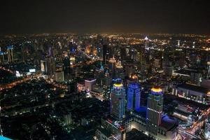 Bangkok Stadt in der Nacht foto