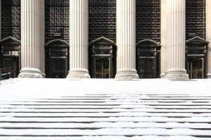 schneebedeckte Schritte - nyc foto