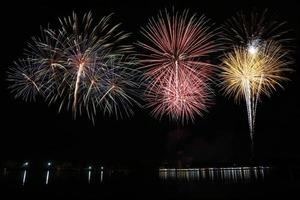 buntes Feuerwerk foto