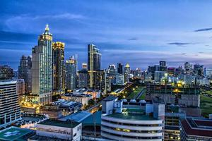 Stadt in Bangkok foto
