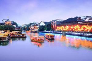 Kreuzfahrt auf dem Kanal in Nanjing Konfuzius