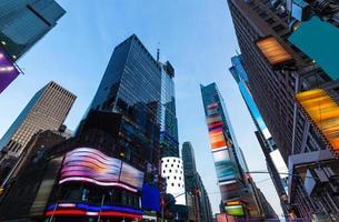 Times Square Manhattan New York hat Anzeigen gelöscht