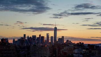 Blick auf Lower Manhattan von Midown, NYC
