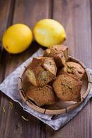 Muffins mit Zitrone foto