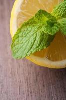 Zitrone und Minze foto