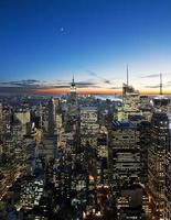 Sonnenuntergang über Manhattan foto