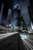 Hong Kong in der Nacht foto