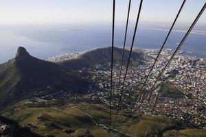 Abstieg aus großer Höhe. foto