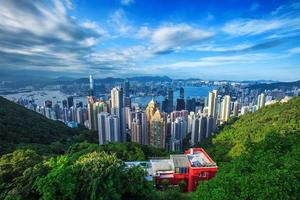 Hong Kong City Skyline vom Gipfel foto