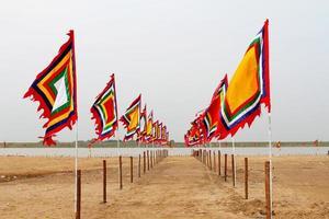 vietnamesische traditionelle Flagge foto