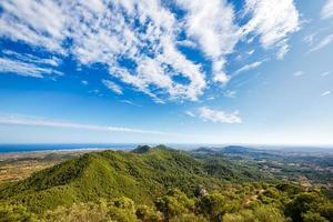Blick vom Berg Sant Salvador, Mallorca foto