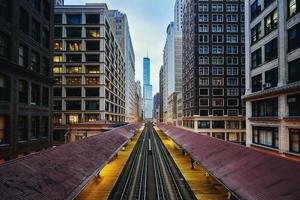 Nachmittag Chicago L Tracks foto