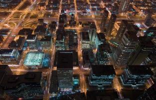 Chicago in der Nacht foto
