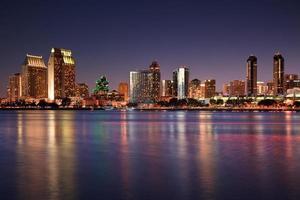 San Diego Skyline in der Abenddämmerung