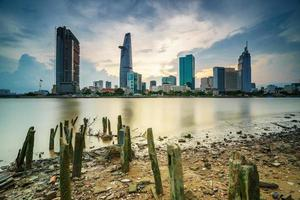 Innenstadt Saigon im Sonnenuntergang (HDR), Ho Chi Minh Stadt, Vietnam
