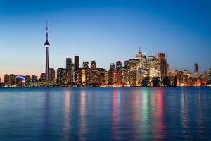 Nachtszene der Innenstadt von Toronto foto