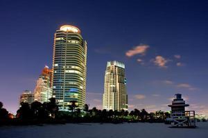 Nachtaufnahmen am Miami Beach