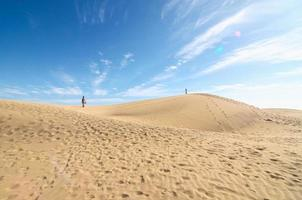 Sanddünenwüste Textur foto