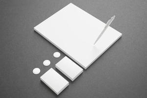 leeres Briefpapier-Set