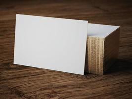 weißes Geschäftskartenmodell foto