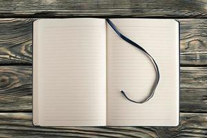 leer, ausgebreitet, Buch foto