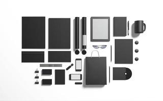 schwarz schwarz branding elemente als ersatz für ihr design foto