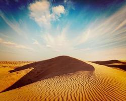 Dünen der Wüste, Rajasthan, Indien foto