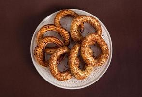 türkischer Bagel (kandil simiti)