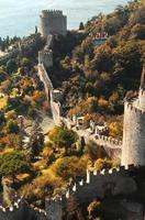 Luftbild der Rumeli-Festung