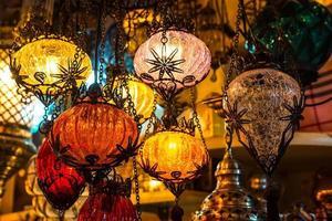 helle mehrfarbige Lampe foto