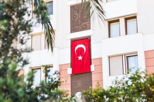 Flagge der Türkei foto