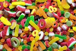 Hintergrund der gemischten türkischen Süßigkeiten foto